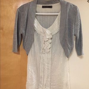 Gray Crop Sweater and Tank